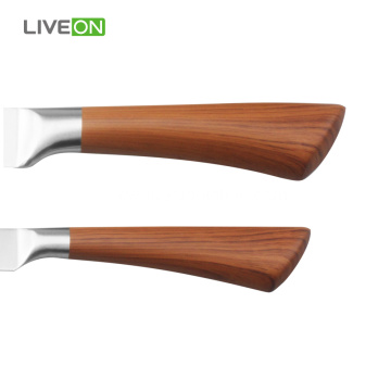 6 pcs Kitchen Knife Set Decal Wood Pattern