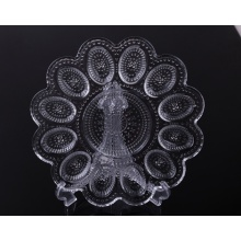 Vintage Pressed glass deviled egg plate