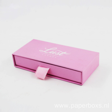 Customized Logo Printed Pink Dawer Gift Paper Box