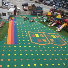 Goods high definition for Outdoor Kids Playground kindergarten healthy plastic sport floor supply to South Africa Supplier