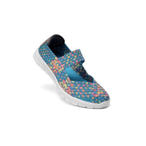 Colorful Woven Mary Jane Shoes