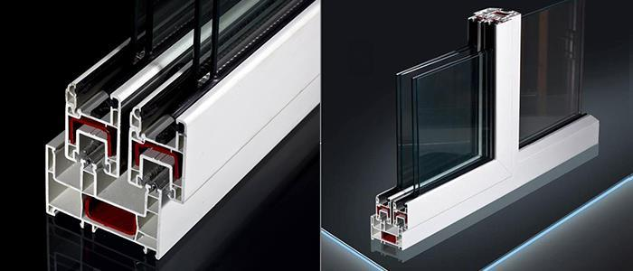 80mm pvc window