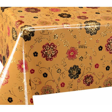 Double Face Emboss printed Gold Silver Tablecloth Next