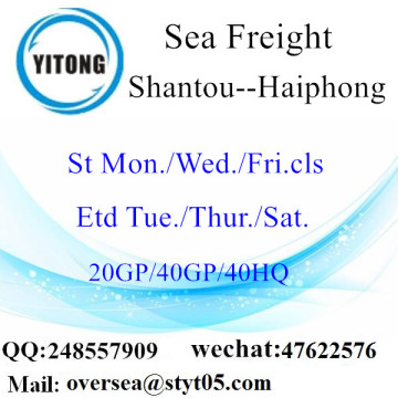 Shantou Port Sea Freight Shipping To Haiphong