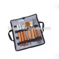 6Pcs Wooden Handle Barbecue Utensils Set