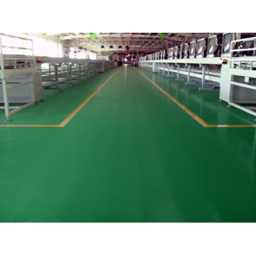 Dustproof quartz epoxy coating