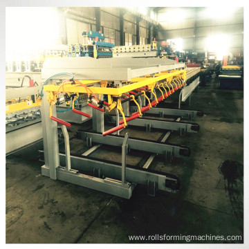 Electric roof sheet stacker