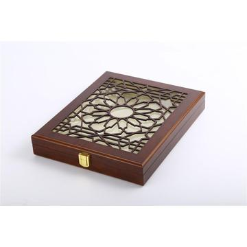 Wooden box for metal medal