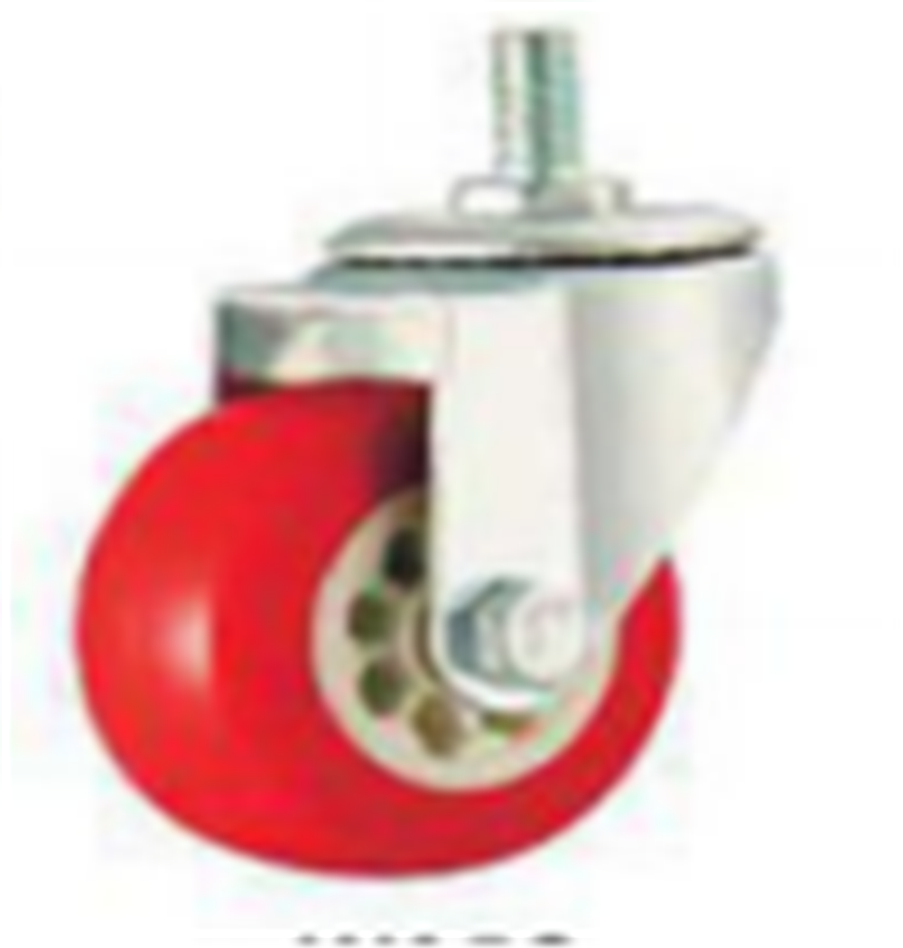 2 Inch Swivel PVC Material Threaded Steam Small Caster