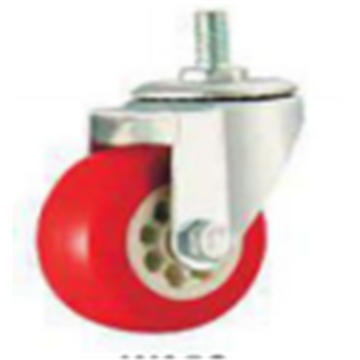 3 Inch  Swivel PVC Material Threaded Steam Small Caster