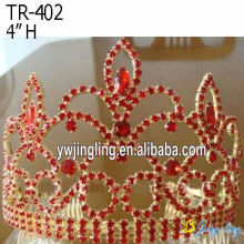 Red rhinestone custom queen crowns
