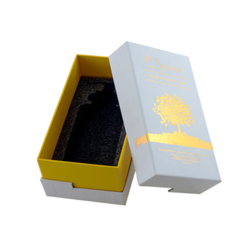 Customized Gold Stamping Essential Oil Gift Paper Packaging