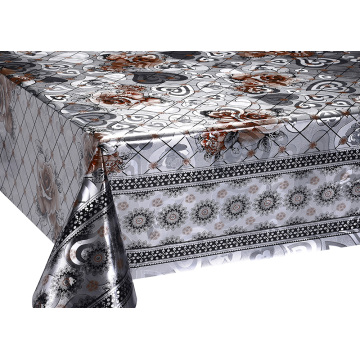 Silver Gold Double Face Coating Tablecloth