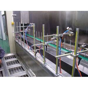 Automatic perfume cap UV coating line