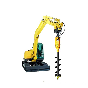 Excavator earth drill machine
