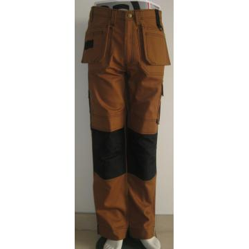 European men casual trousers work pants with knee