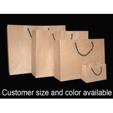 Rope Handle Brown Paper Shopping Bag