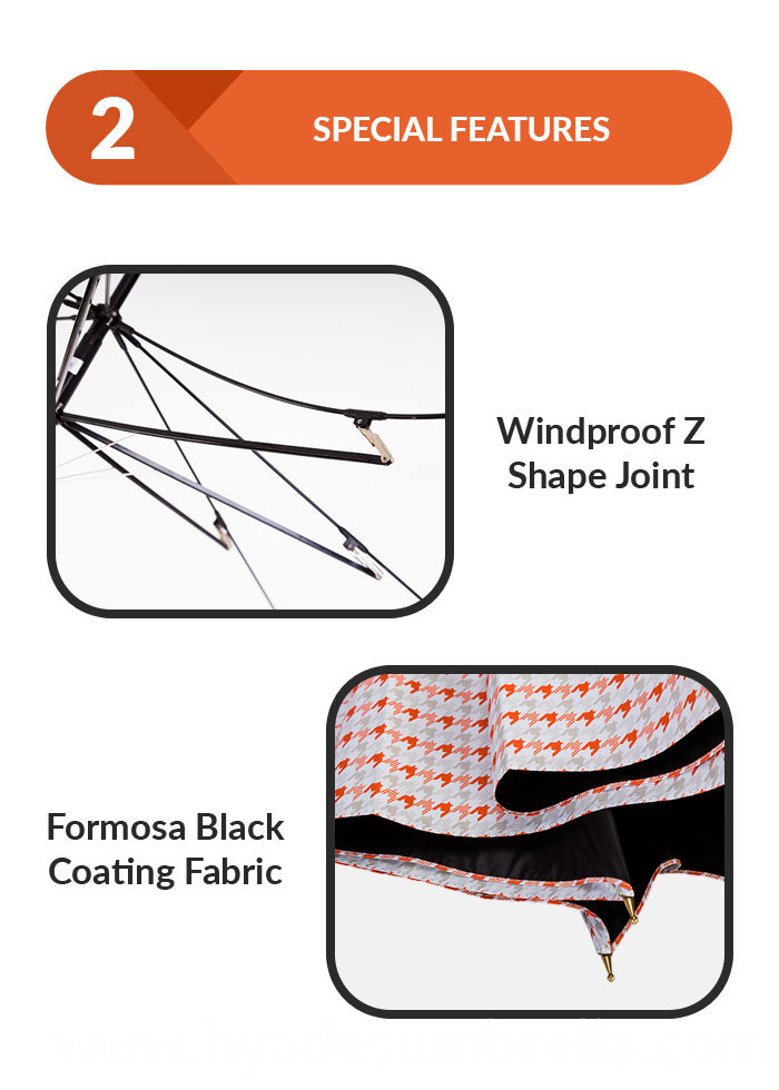 Auto Open Straight Umbrella Lightweight Fabric