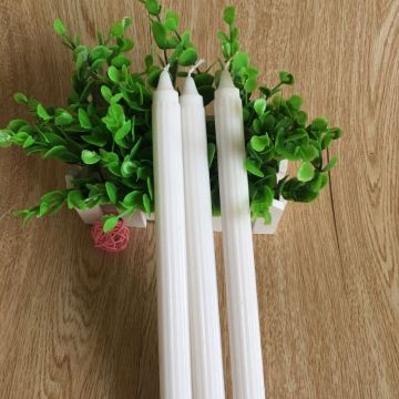 White Plain Paraffin Wax Candles for Daily Use