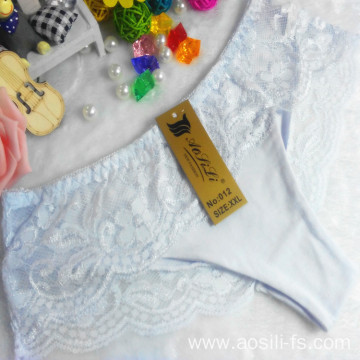 OEM wholesale China cheap panty white sexy cotton lace elastic new style fancy underwear 012