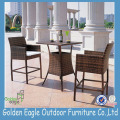 2014 latest desig rattan garden furniture cheap outdoor bar table and chair set