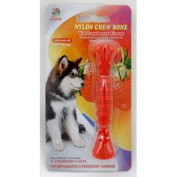 "Percell 4.5"" Nylon Dog Chew Spiral Bone Strawberry Scent"