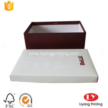 Custon printed corrugated shoes packaging box