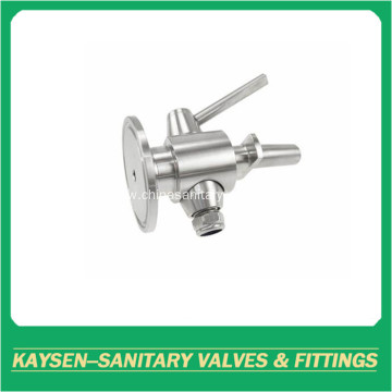 Sanitary sampling valves for beer fermentation tank
