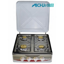 4 Burners Portable Stainless Steel Mini Gas Stove