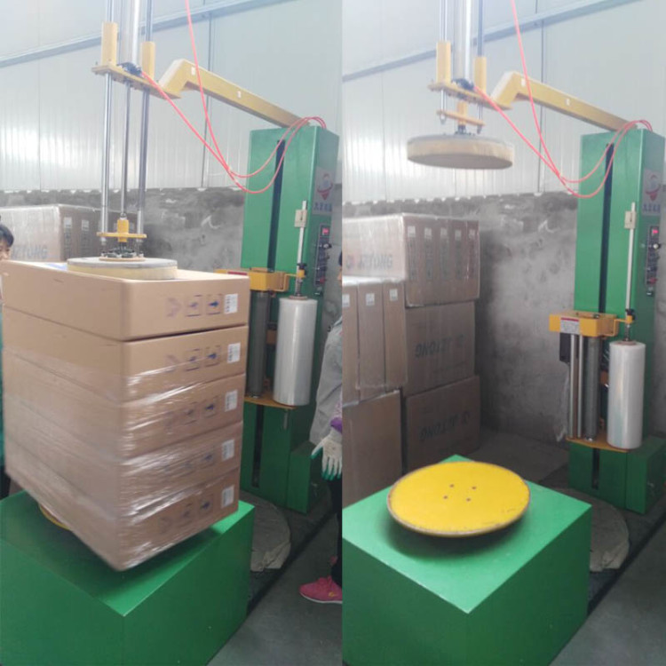 Carton wrapping machine