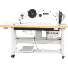 Long Arm Flat Bed Double Needle Triple Feed Walking Foot Extra Heavy Duty Lockstitch Sewing Machine