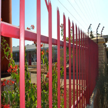 Discount Price Pet Film for Palisade steel fence Details Heavy Duty Galvanized D W Metal Palisade Fence supply to Cameroon Manufacturer