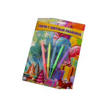 Birthday Cake Spiral Magic Color Flame Candles