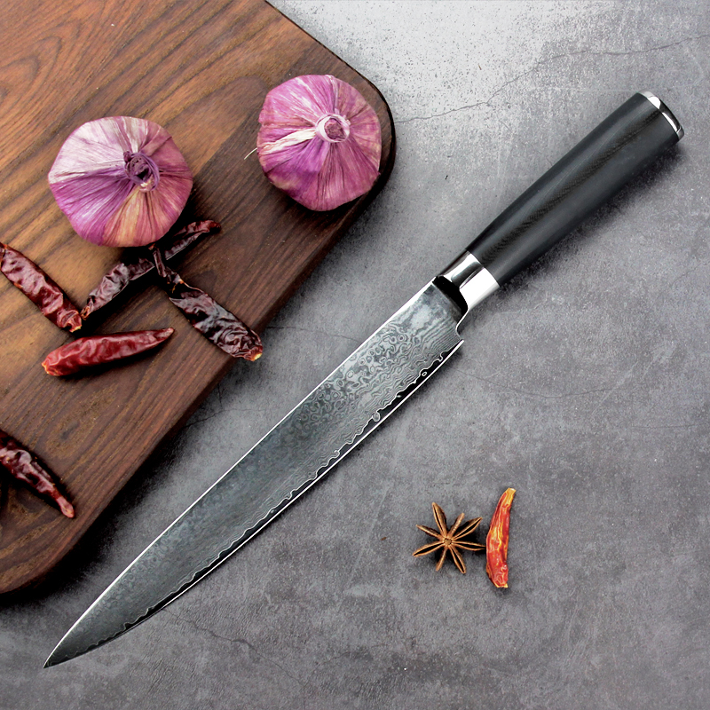 Japanese AUS-10D Damascus Susi knife