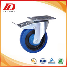 rubber wheel caster with brake