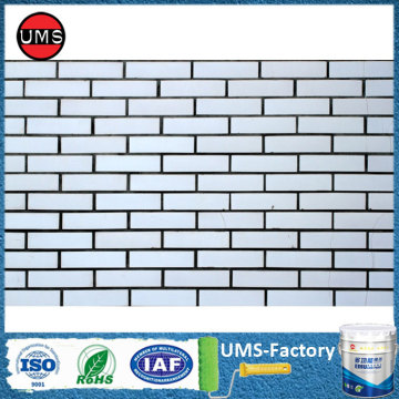 Paint interior brick on wall white