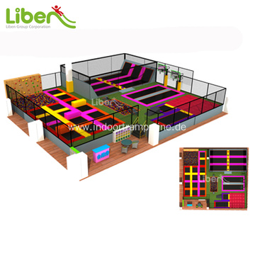 Professional kids indoor trampoline park for sale