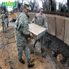 Square welded gabion box hesco military fence