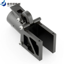 CNC milling machining with black anodized parts