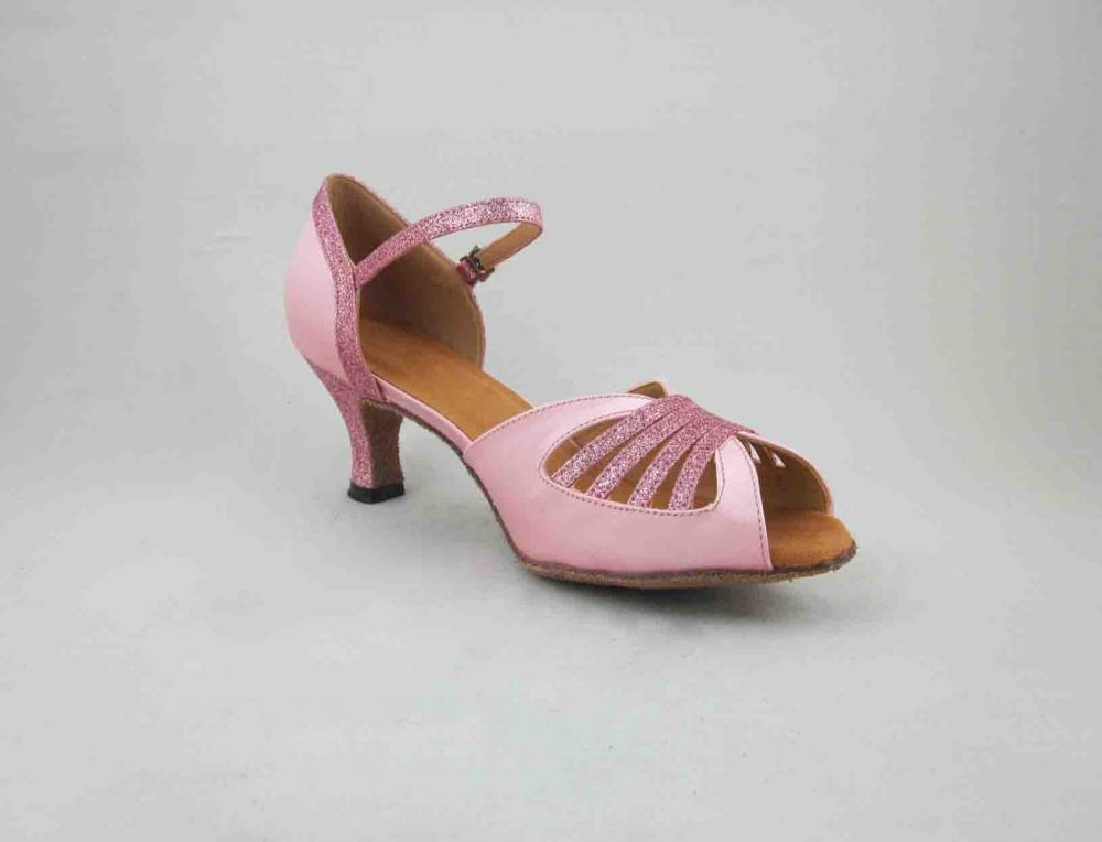 Womens Pink Satin Salsa Shoes