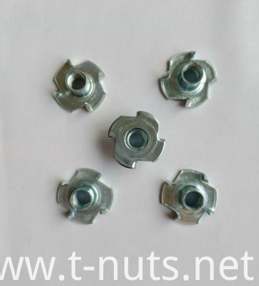 Zinc plated standard 4 Prong T- nuts