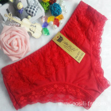 OEM wholesale China new style red sexy comfortable lace cotton fancy underwear 511