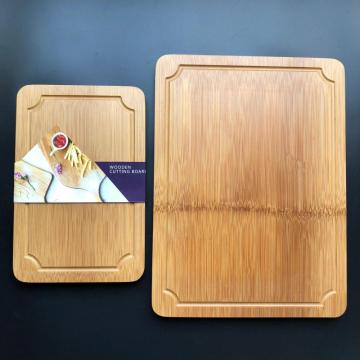 Bamboo rectangle​ cutting board with well