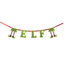 OEM for Artificial Christmas Garland Christmas 3D magic elf bunting banner supply to France Manufacturers
