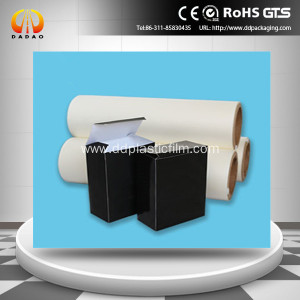 Glue based soft touch BOPP lamination film
