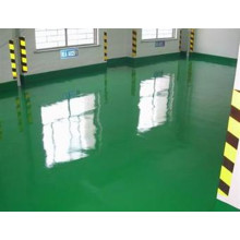 Green two-component epoxy coating floor