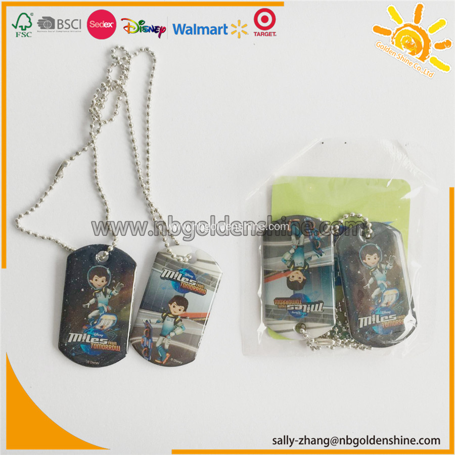 Promotion Gift Metal Tags Necklace