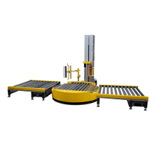 Automatic convery pallet stretch wrapping machine