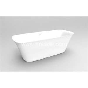 White Solidsurface Adult Pure Acrylic Bowl Bath Tub