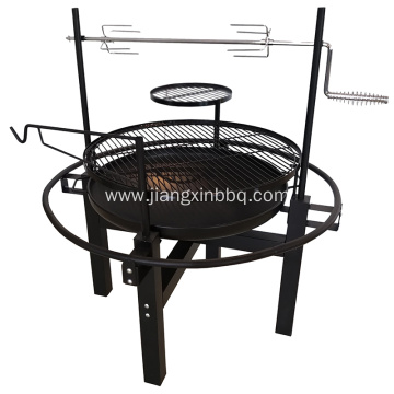 Outdoor Charcoal BBQ Grill With Rotisserie